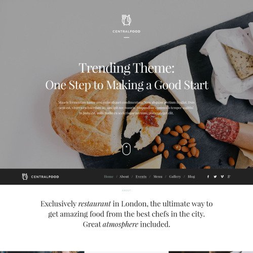 Central Food - WordPress Template based on Bootstrap