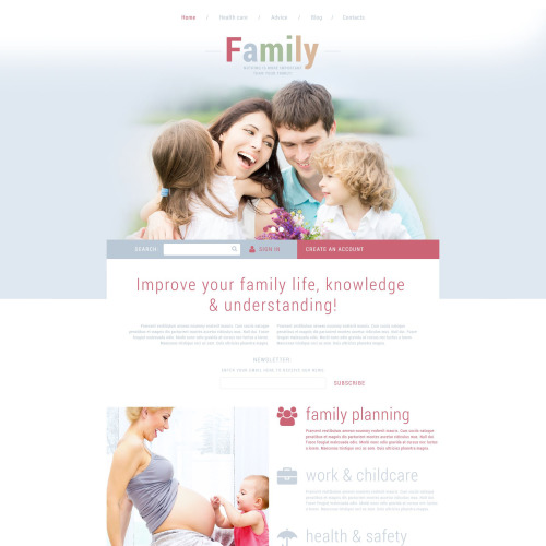 Family - Joomla! Template based on Bootstrap
