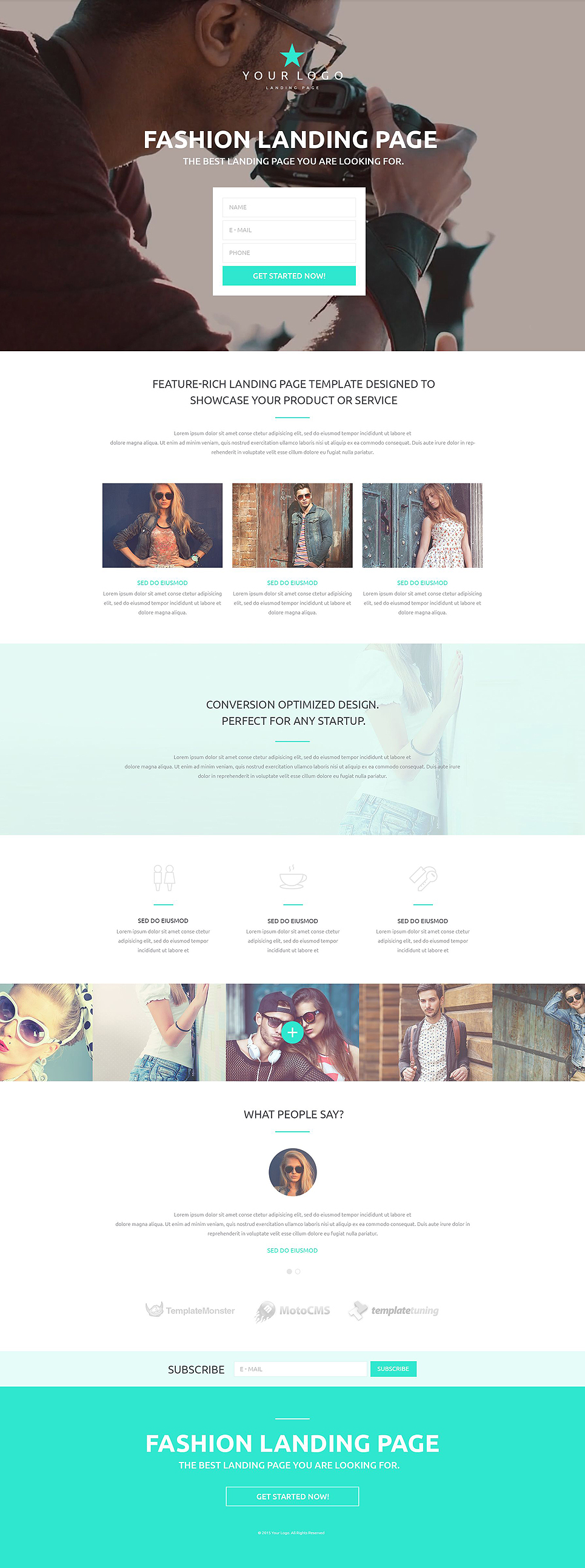 Fashion Responsive Landing Page Template #53430
