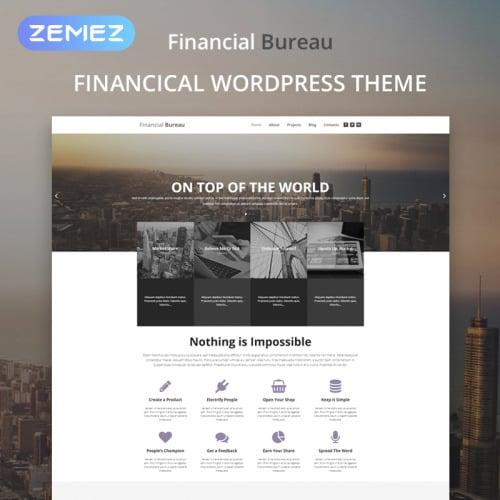 Financial Bureau - WordPress Template based on Bootstrap