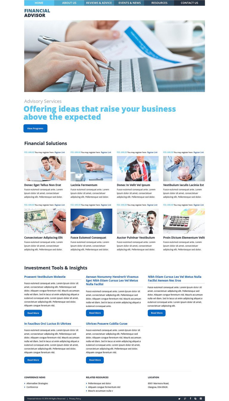Financial Advisor WordPress Theme New Screenshots BIG