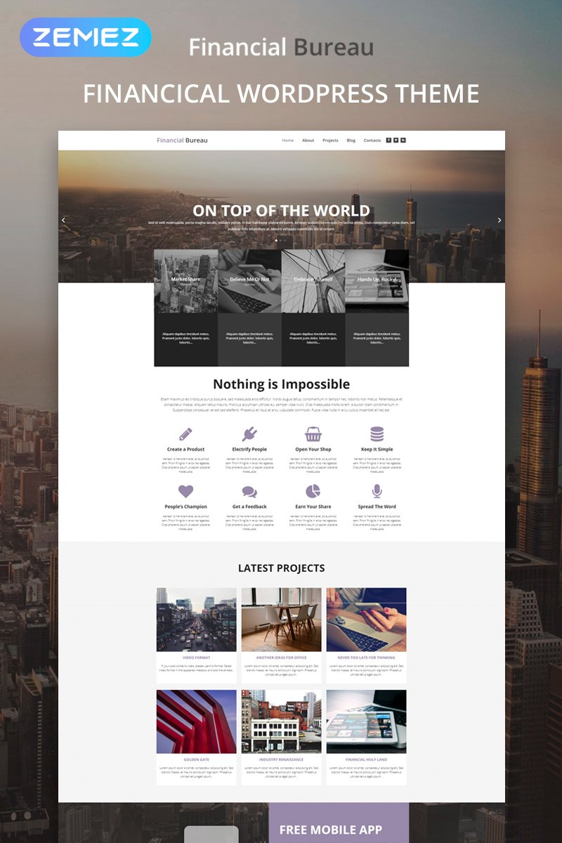Financial Bureau - Finance Multipurpose Modern Elementor WordPress Theme - screenshot