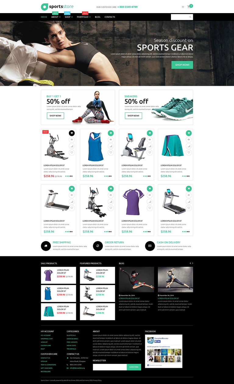 Fitness Store WooCommerce Theme New Screenshots BIG