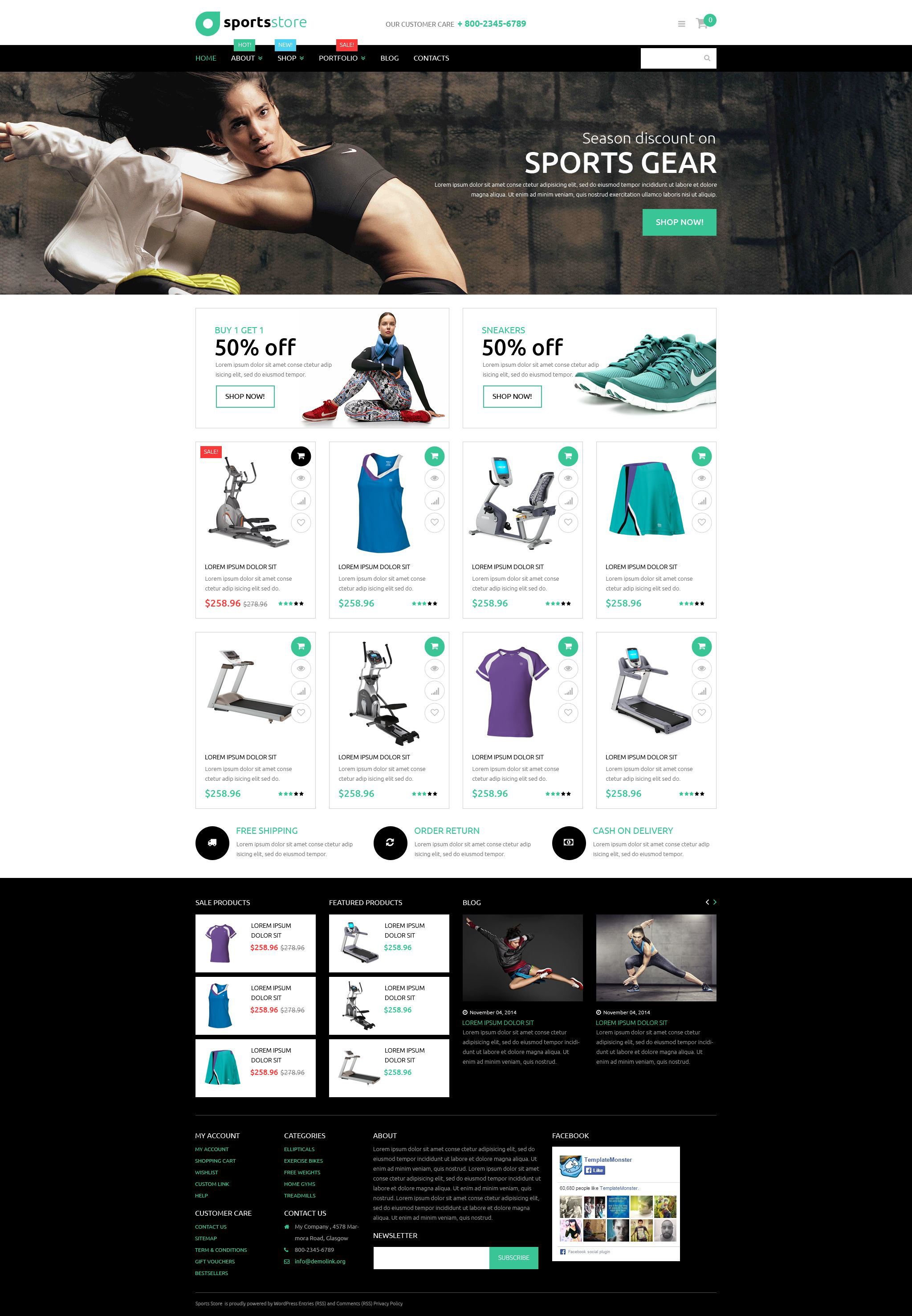 Fitness Store WooCommerce Theme - screenshot