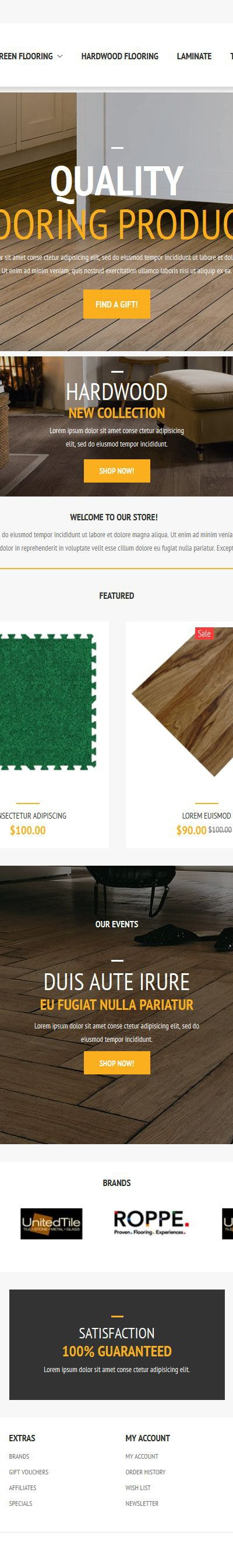 Flooring Store OpenCart Template