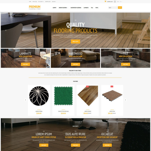 Premium - OpenCart Flooring Template