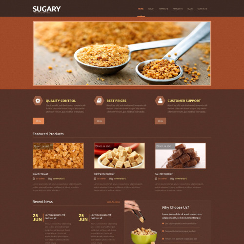 Sugary - WordPress Template based on Bootstrap