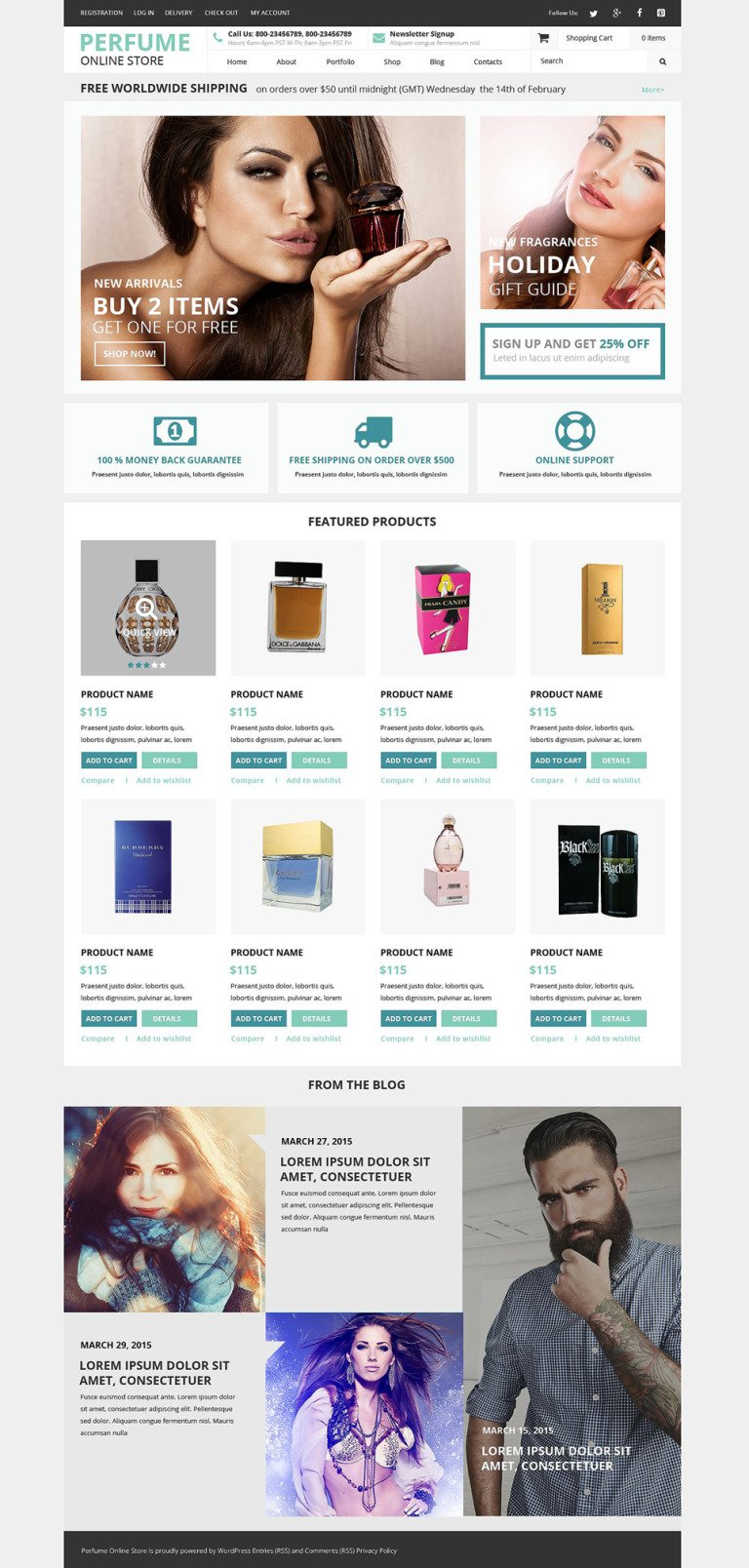 Fragrance Shop WooCommerce Theme New Screenshots BIG