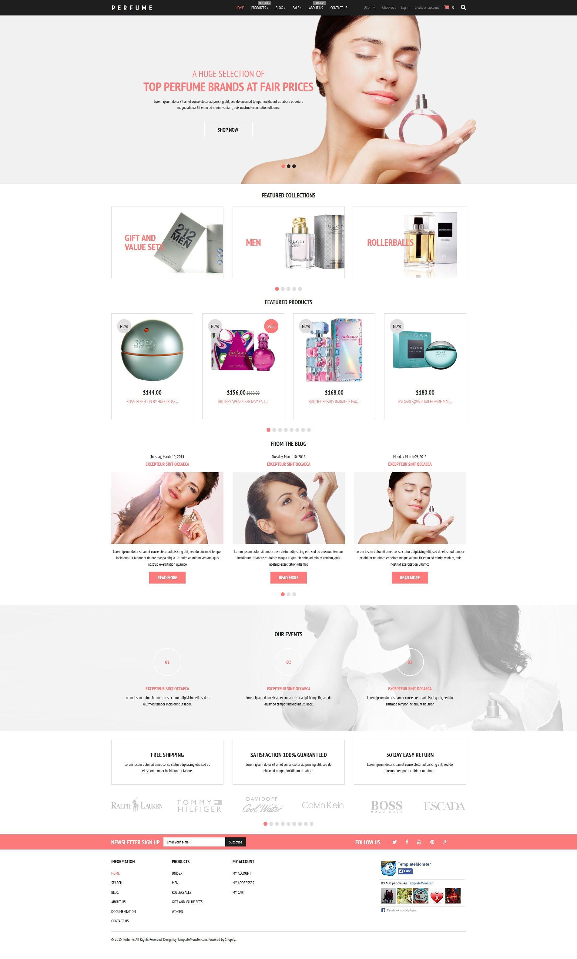 Fragrance Store Shopify Theme - screenshot