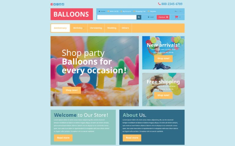 Free Entertainment OpenCart Template OpenCart Template #53448