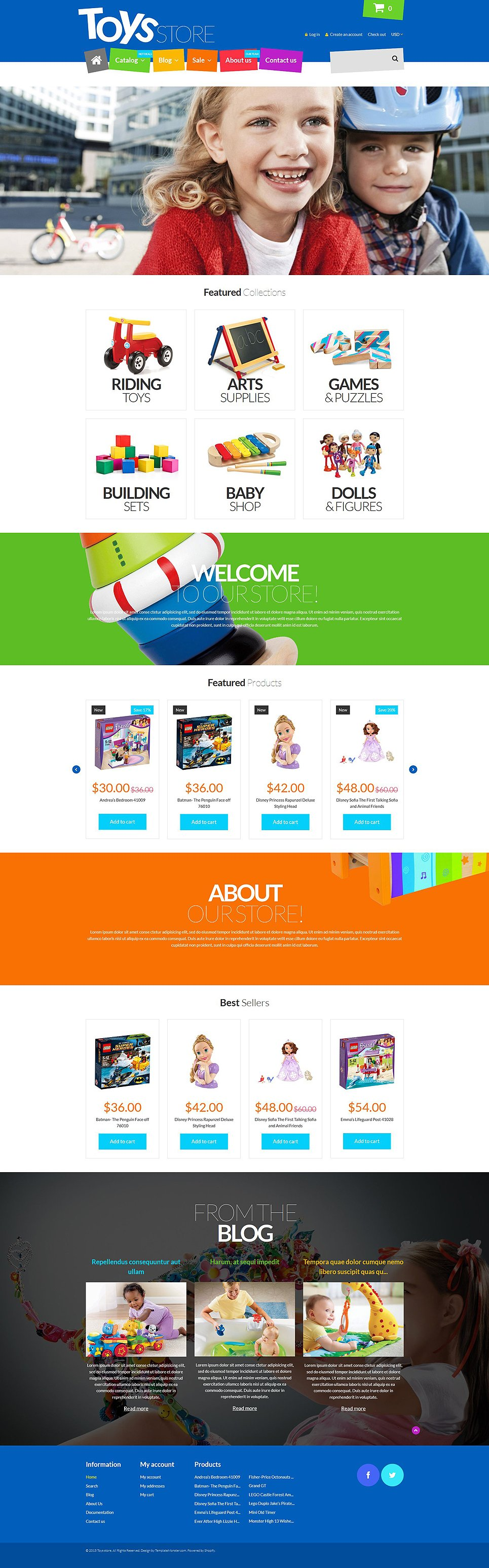 free shopify templates - fun toys shop shopify theme 53440