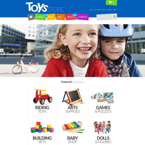 Toys Store - Shopify Template based on Bootstrap