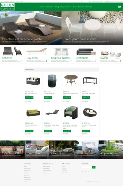Garden Furniture Sheds Magento Theme