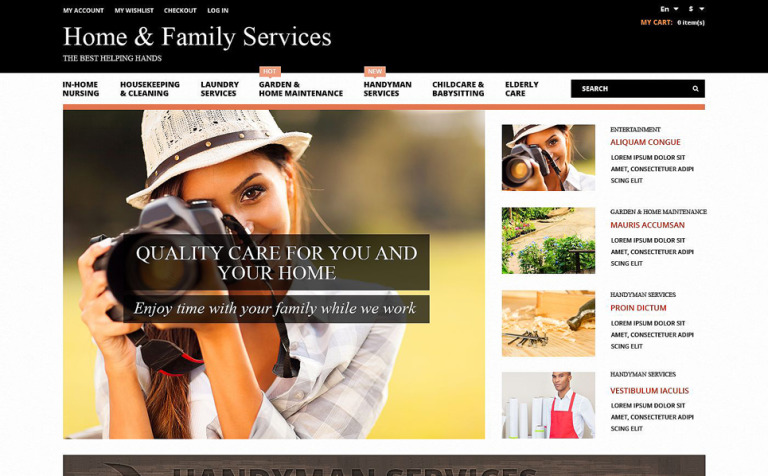 Home Family Services Magento Theme
