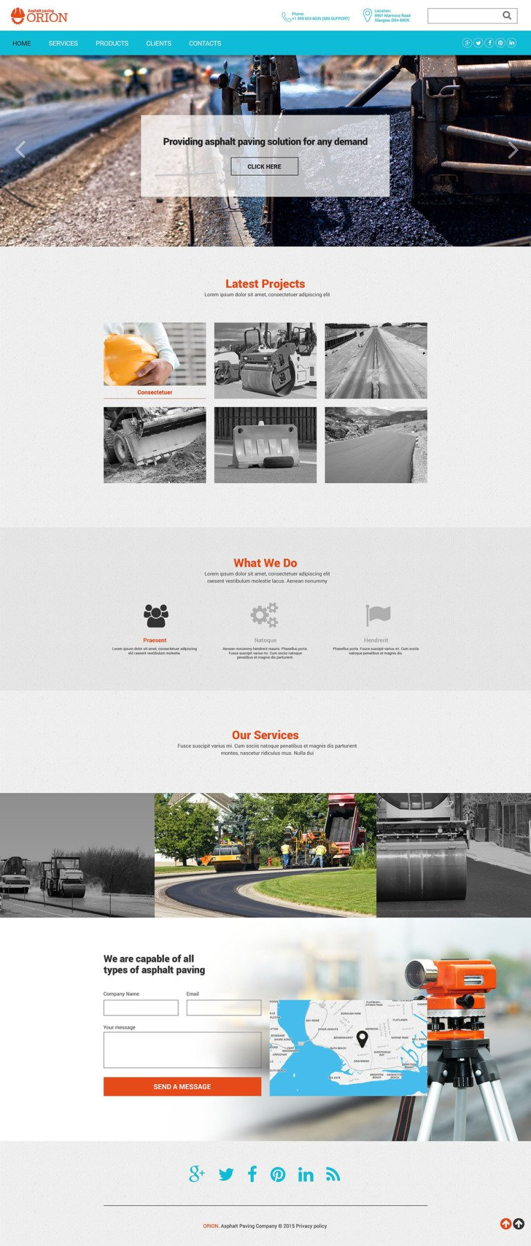 Industrial Sites Website Template New Screenshots BIG