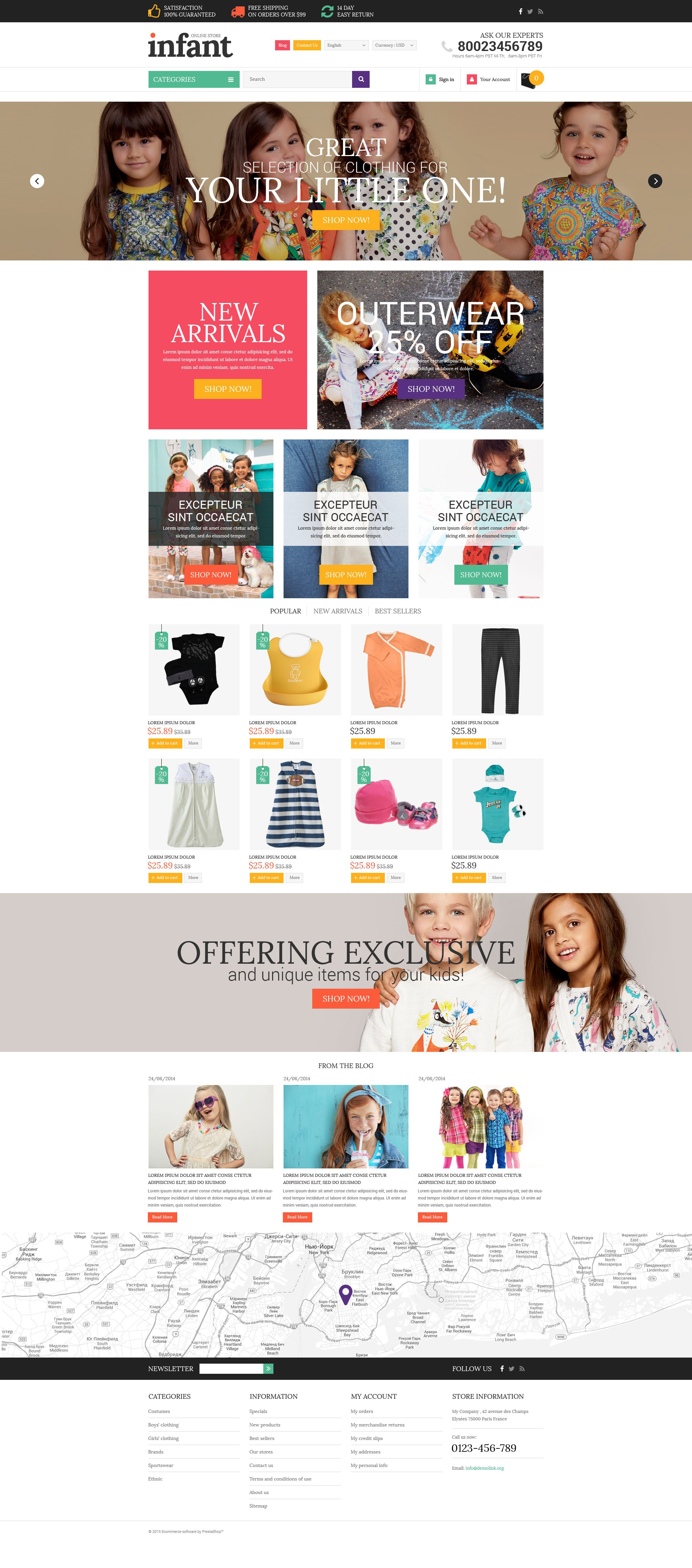 Infant Clothes PrestaShop Theme - screenshot