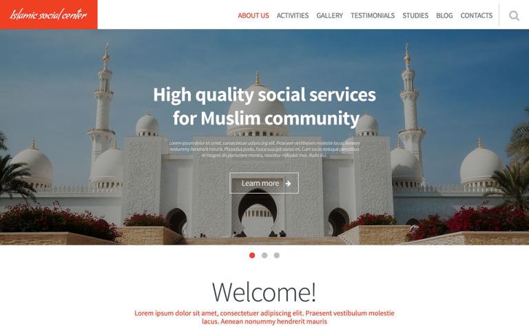 Islamic Social Center Website Template
