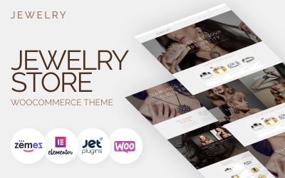 Jewelry - Jewelry Website Design Template for Online Shops
