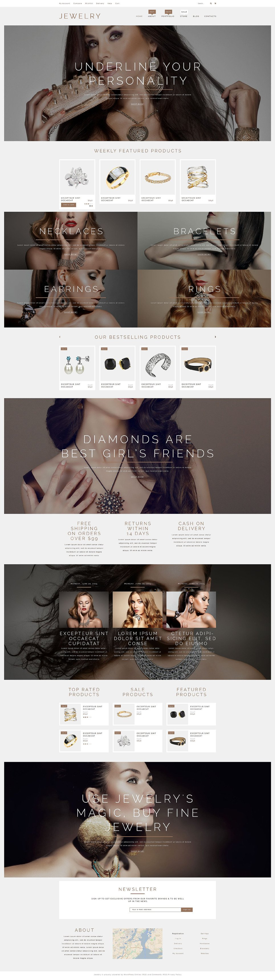 Jewelry Products WooCommerce Theme New Screenshots BIG