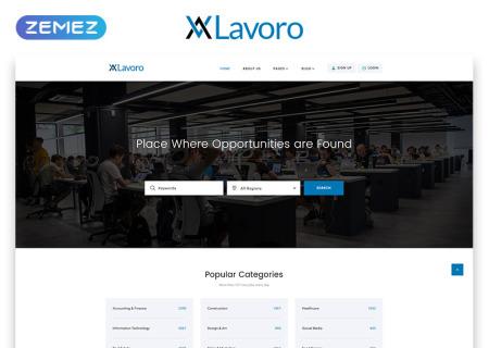 Jobs Portal Multipage HTML5