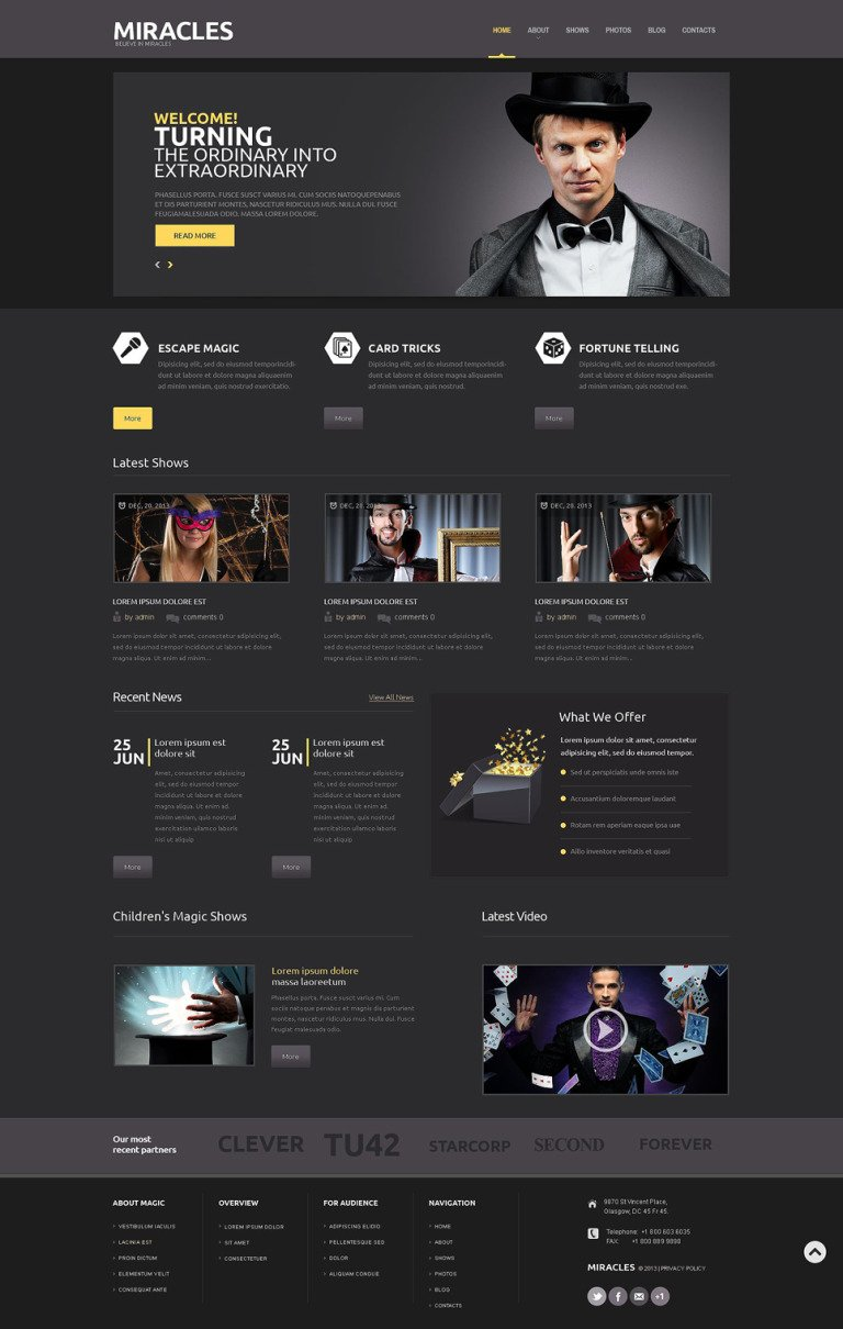 Magician Responsive WordPress Theme New Screenshots BIG