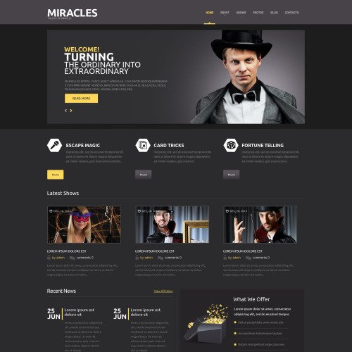 Miracles - WordPress Template based on Bootstrap