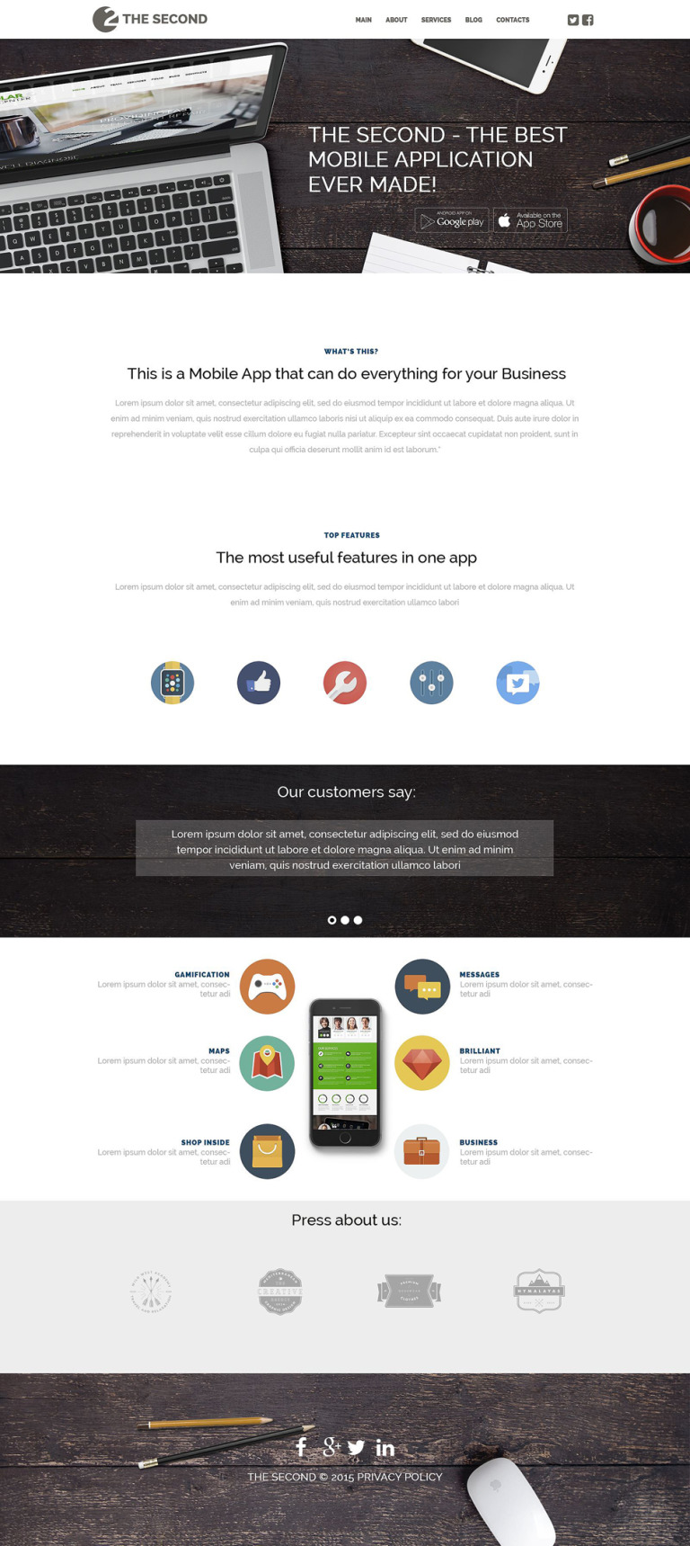 Mobile Applications WordPress Theme New Screenshots BIG