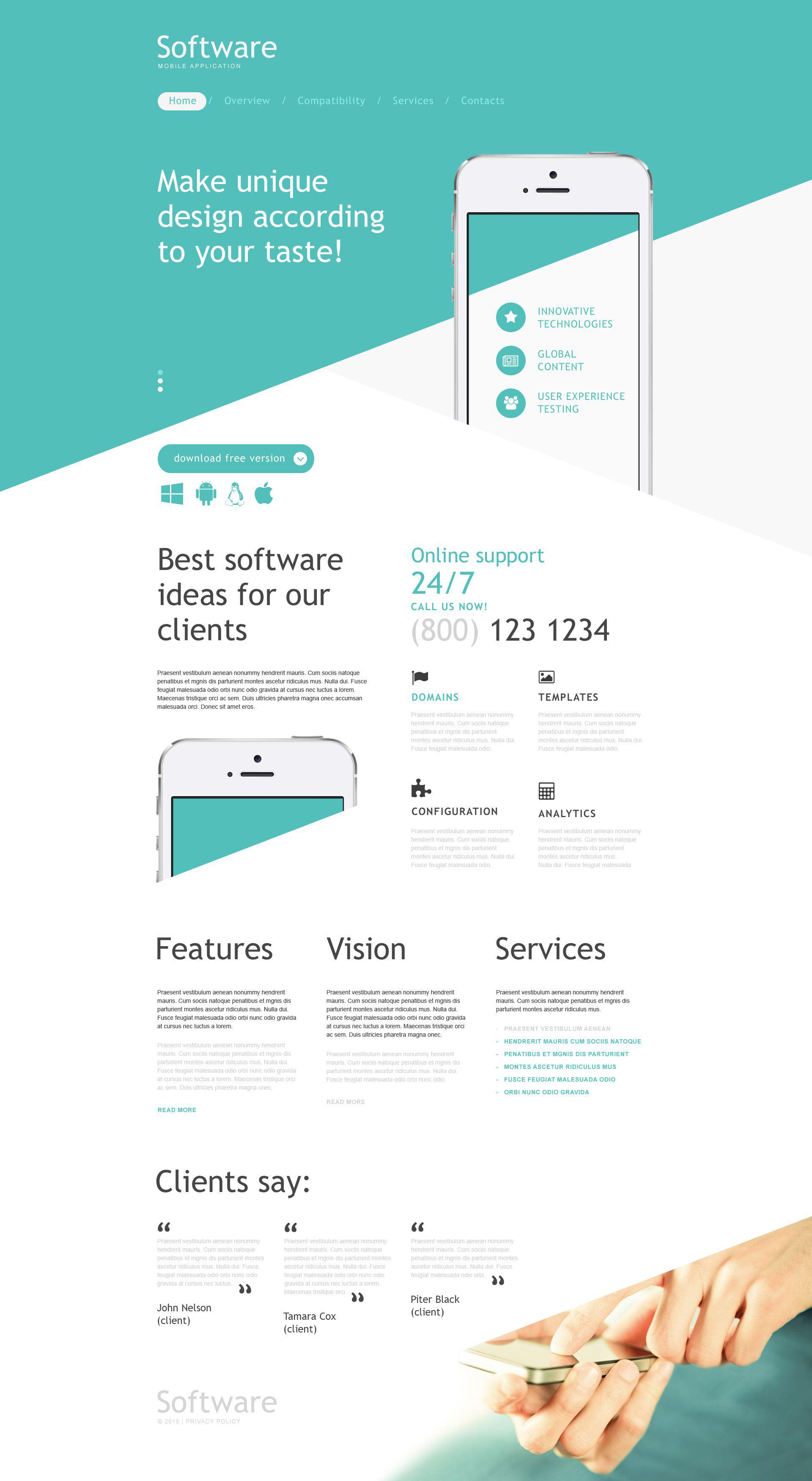 Modèle Muse pour site de développement Web #53465