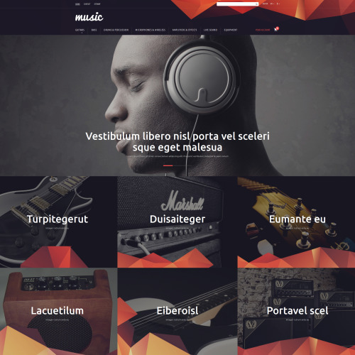 Music  - PrestaShop Template based on Bootstrap