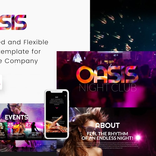 Night Club - Responsive Website Template