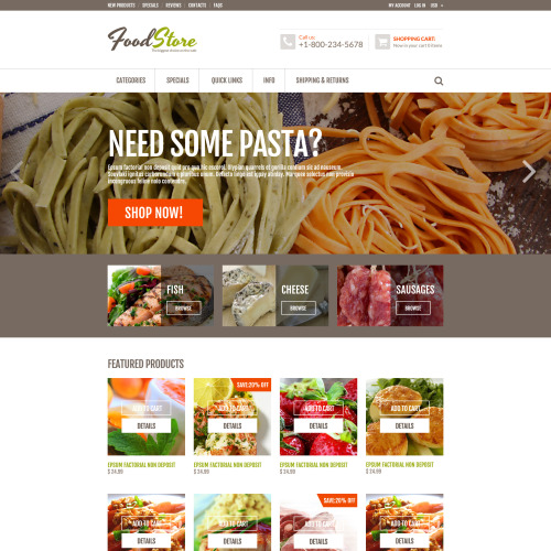 Food Store - ZenCart Template based on Bootstrap