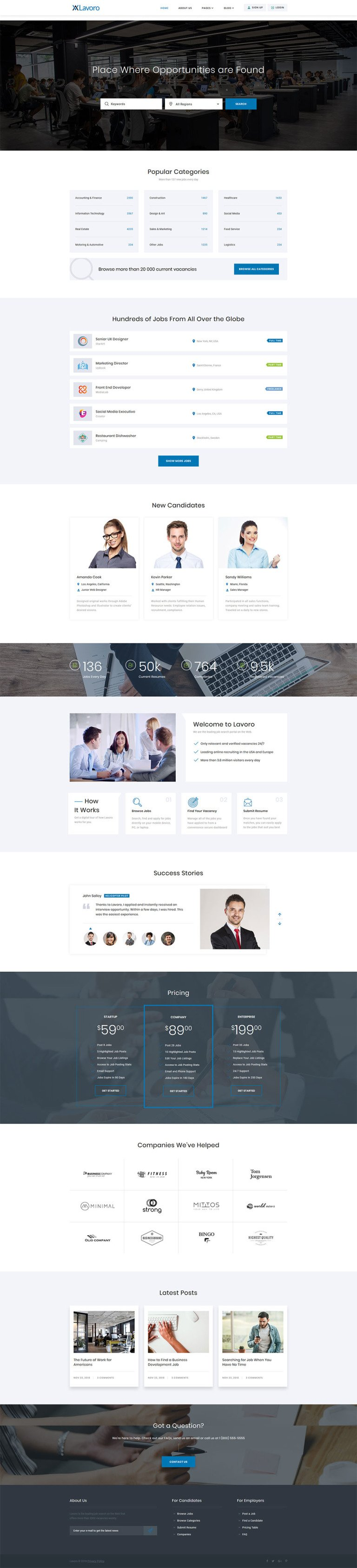 Online Jobsite Website Template New Screenshots BIG