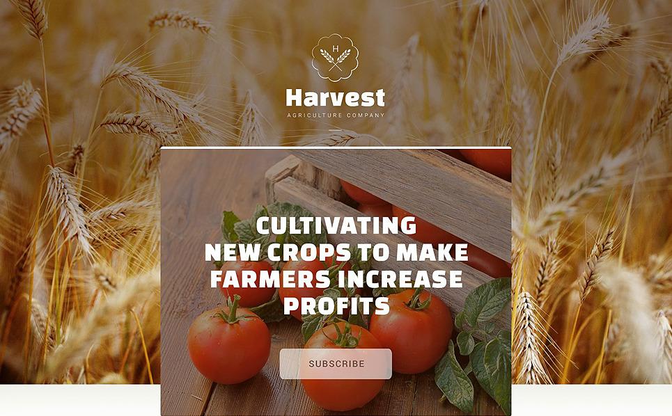 Plantilla Para Página De Aterrizaje Responsive para Sitio de Agricultura New Screenshots BIG