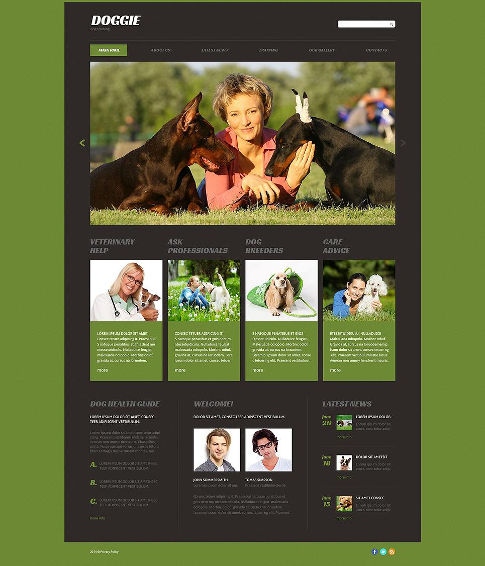 Puppy Courses Website Template New Screenshots BIG