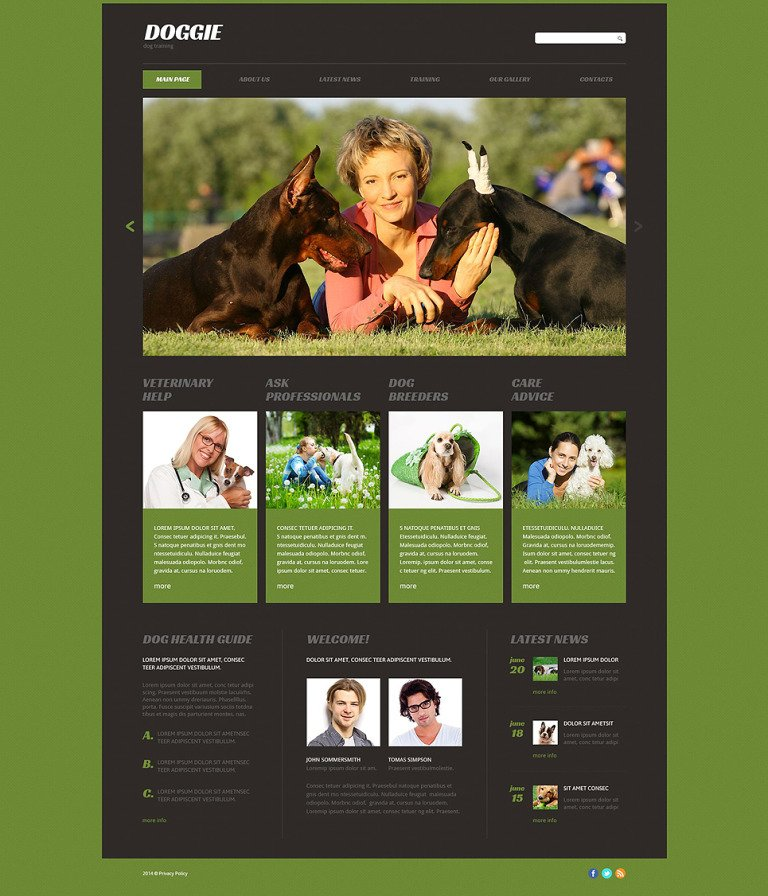 Puppy Courses Website Template New Screenshots BIG