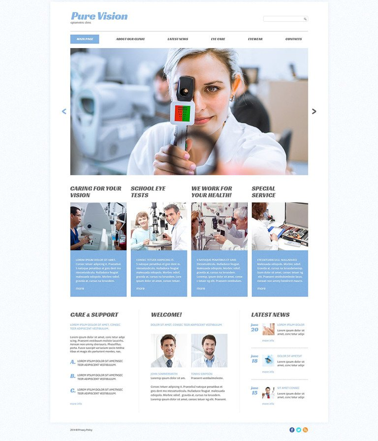 Pure Vision Website Template New Screenshots BIG