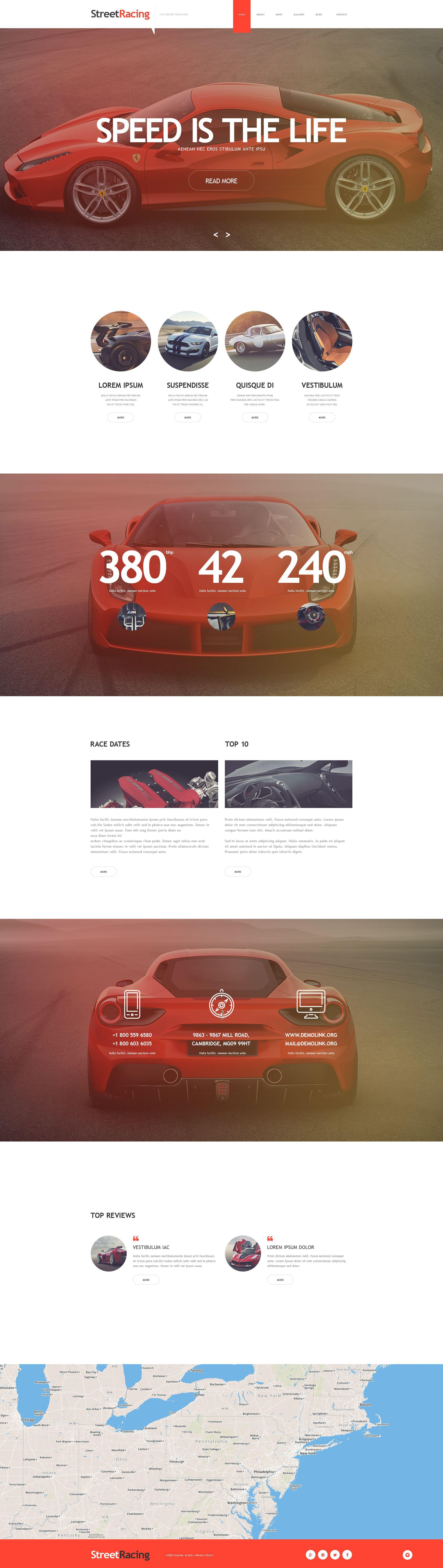 汽车比赛网站Muse 模板 #53464