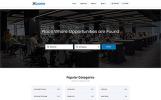 Responsive İş Portalı  Web Sitesi Şablonu