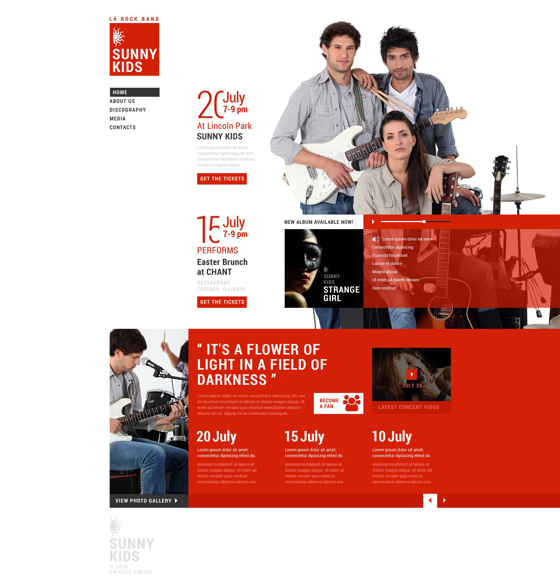 Responsive Müzik Grubu Web Sitesi #53410