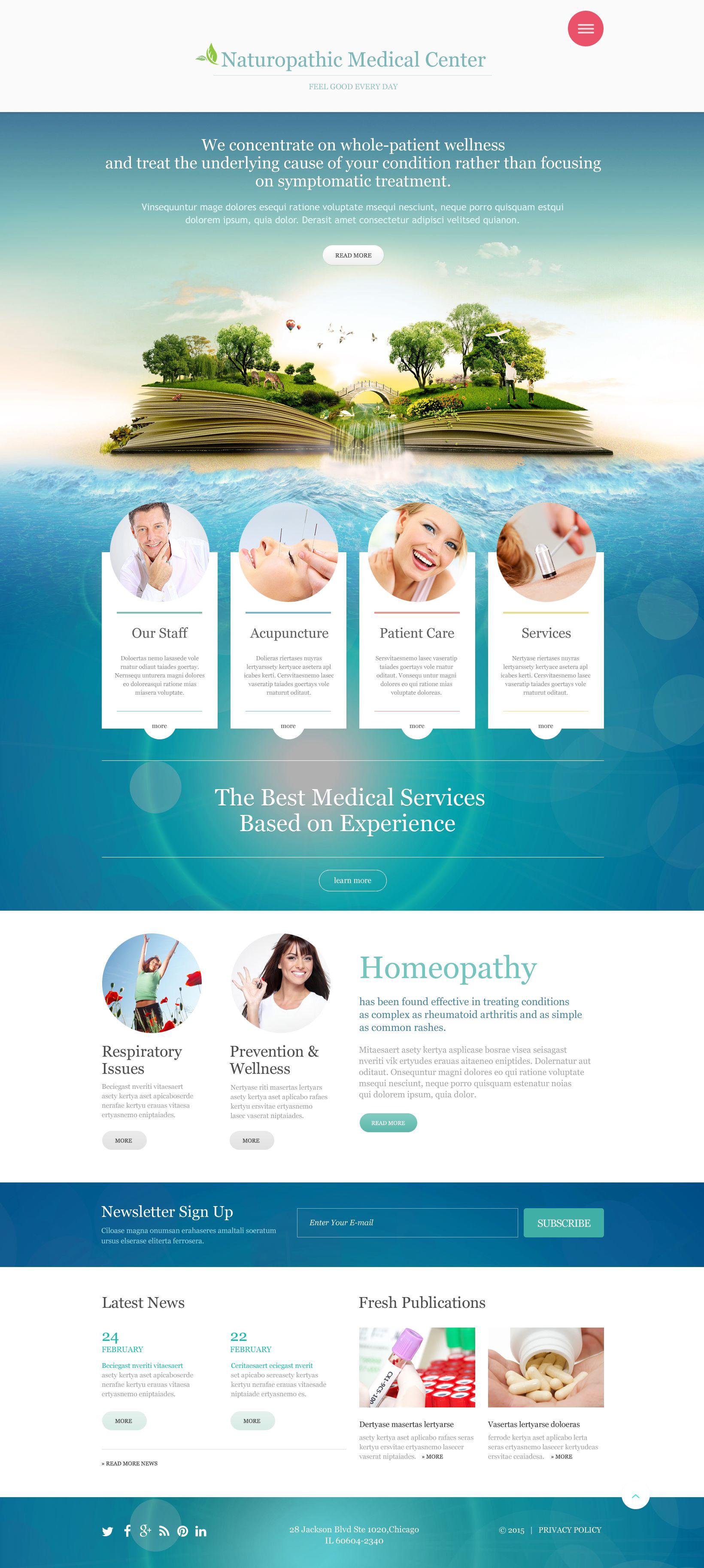 Responsive Website Vorlage für Medizin #53481