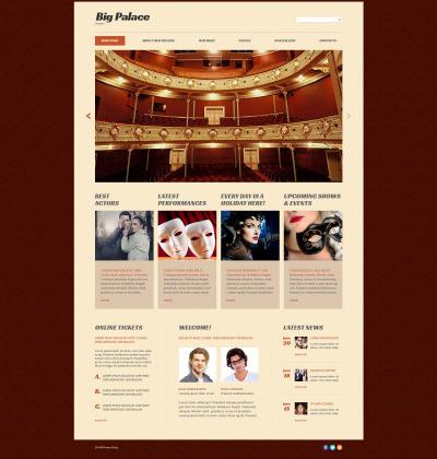 Responsive Website Vorlage für Theater