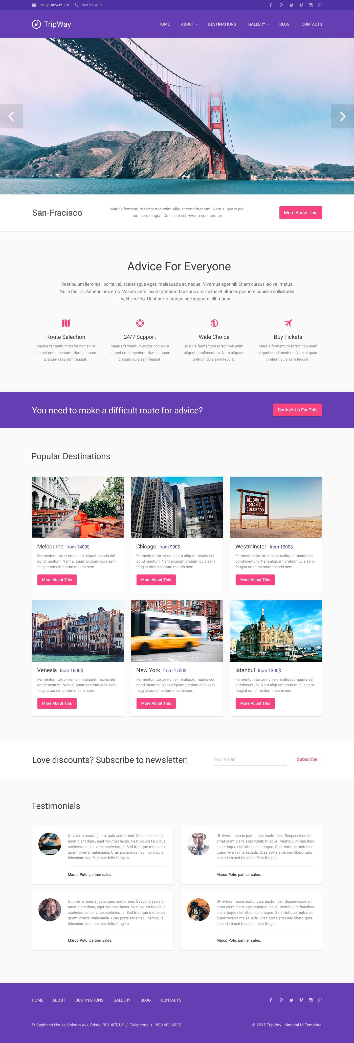 Responsives WordPress Theme für Reisebüro #53493