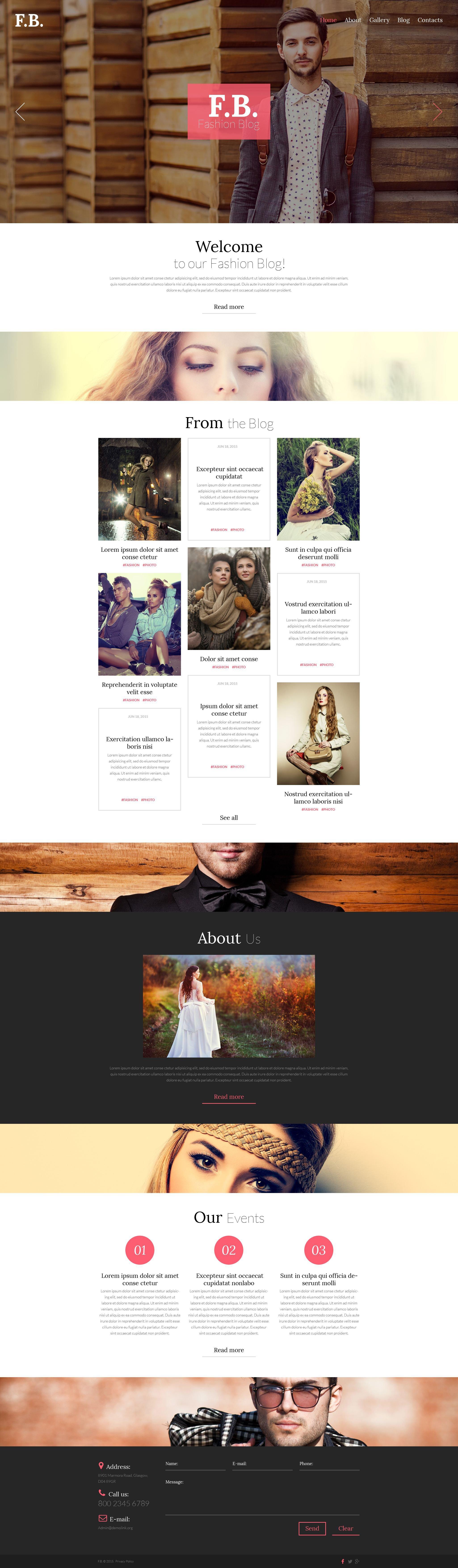 Responsivt Fashion WordPress-tema #53435 - skärmbild