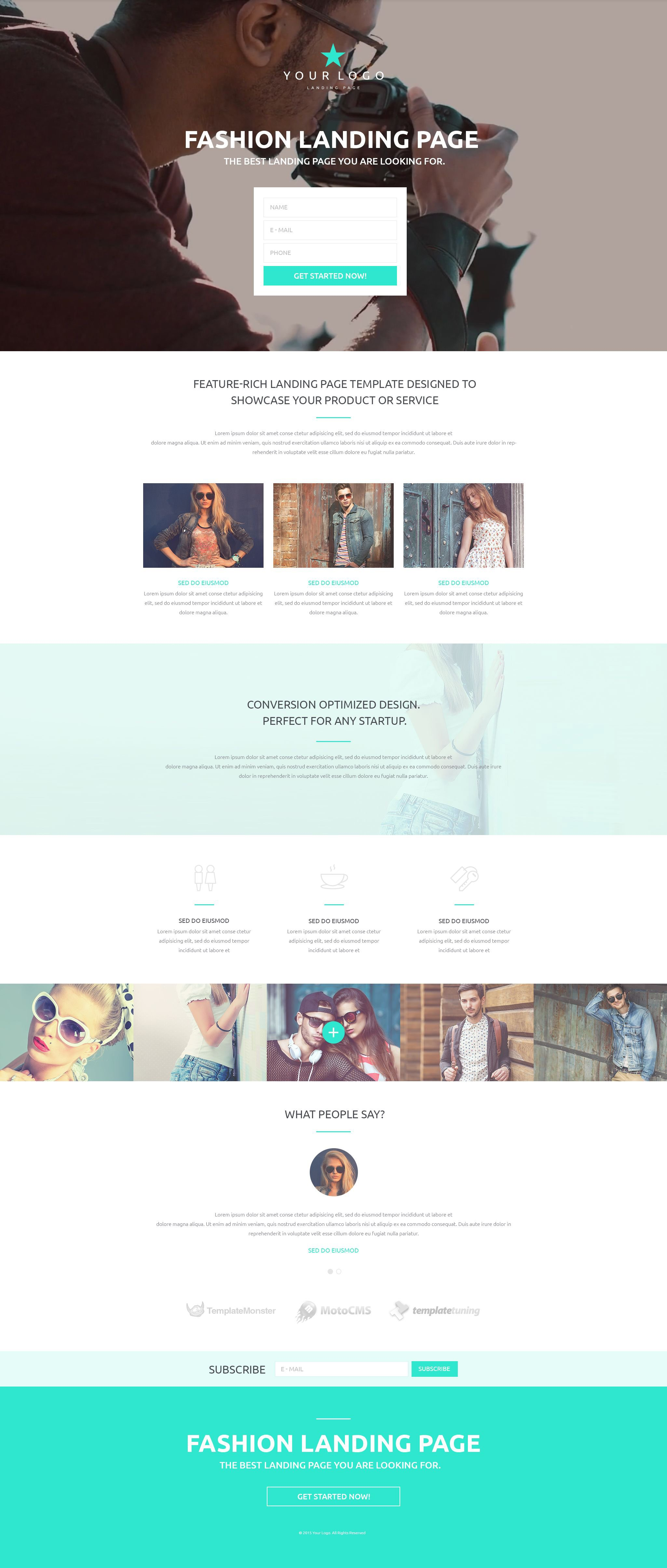 Responsivt Landing Page-mall #53430
