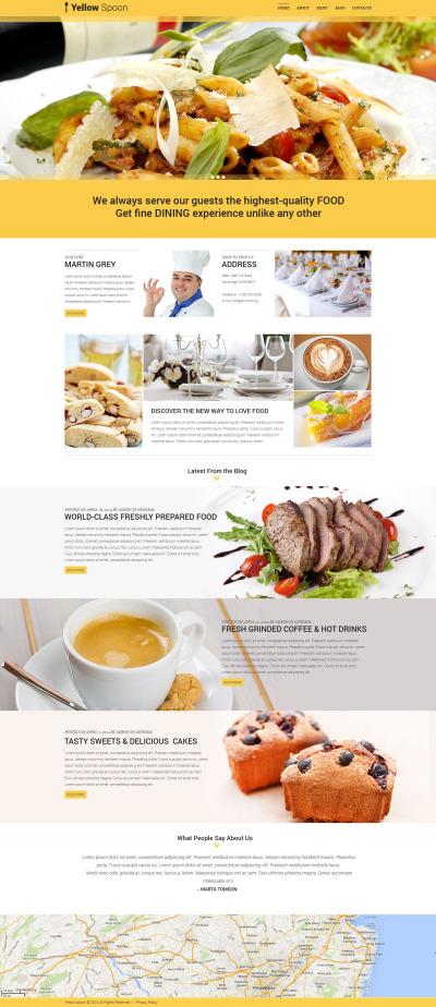 Responsywny motyw WordPress #53436 na temat: kawiarnia i restauracja