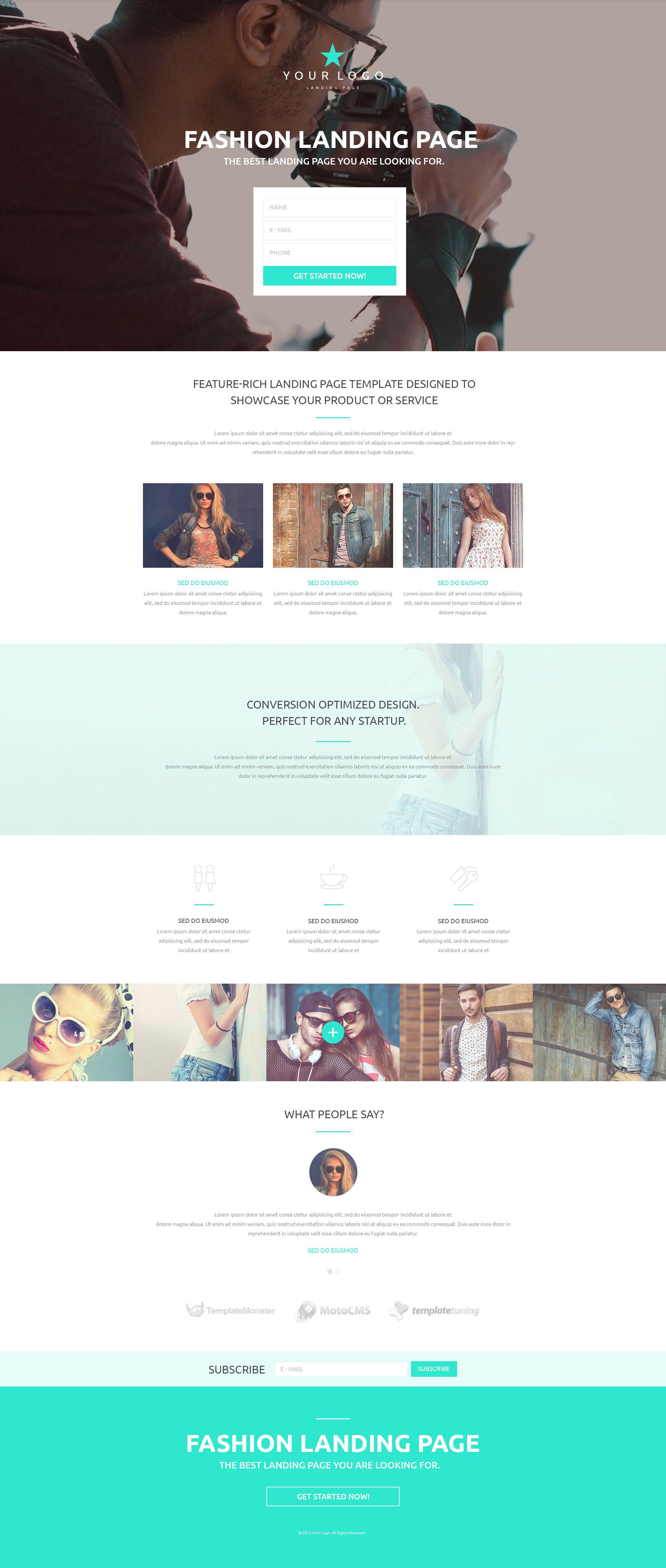 Responsywny szablon Landing Page #53430 na temat: moda