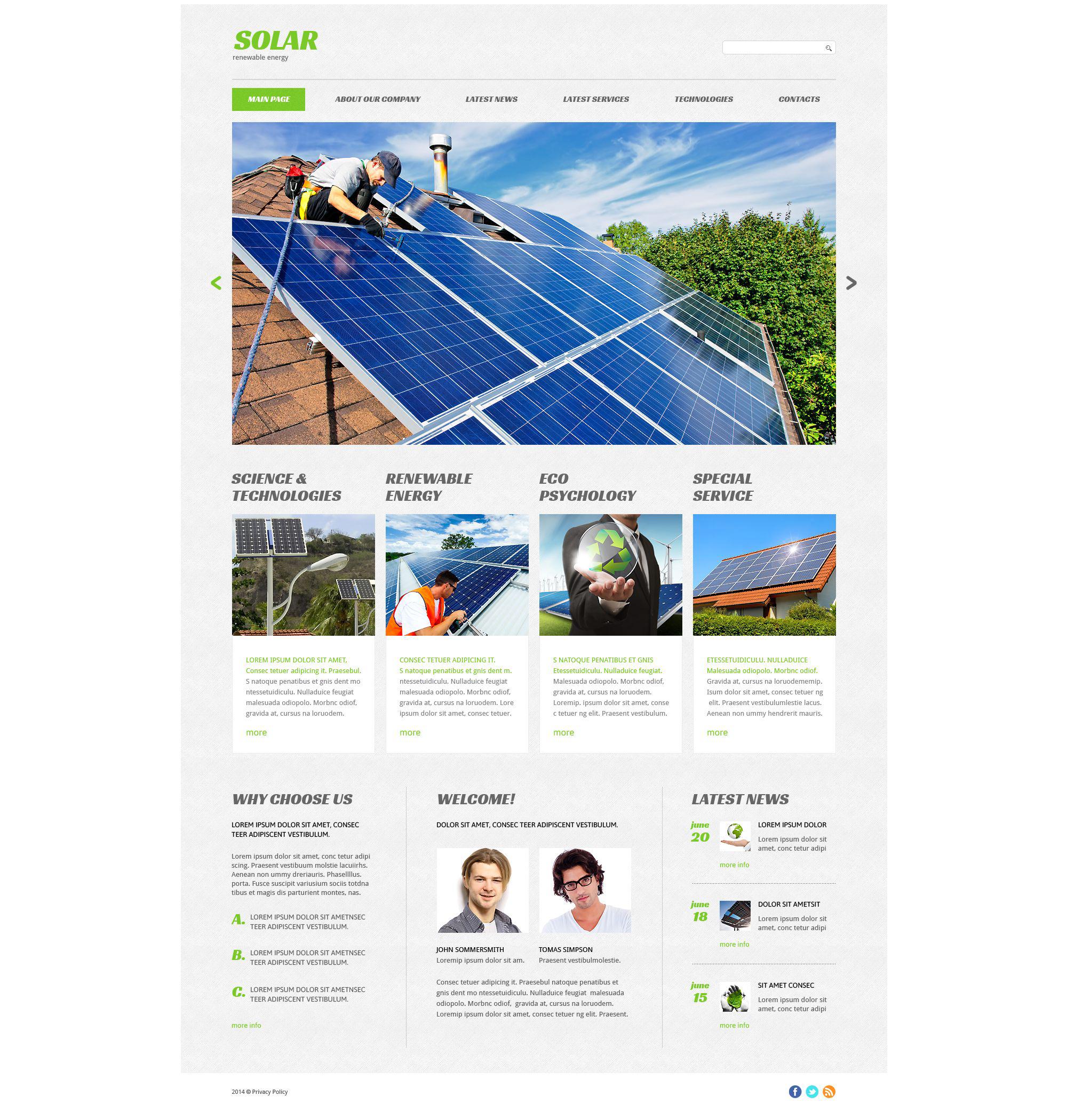 Responsywny szablon strony www Eco Company #53415