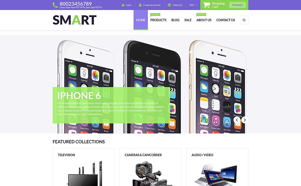 Reszponzív Elektronikai üzletek Shopify sablon New Screenshots BIG