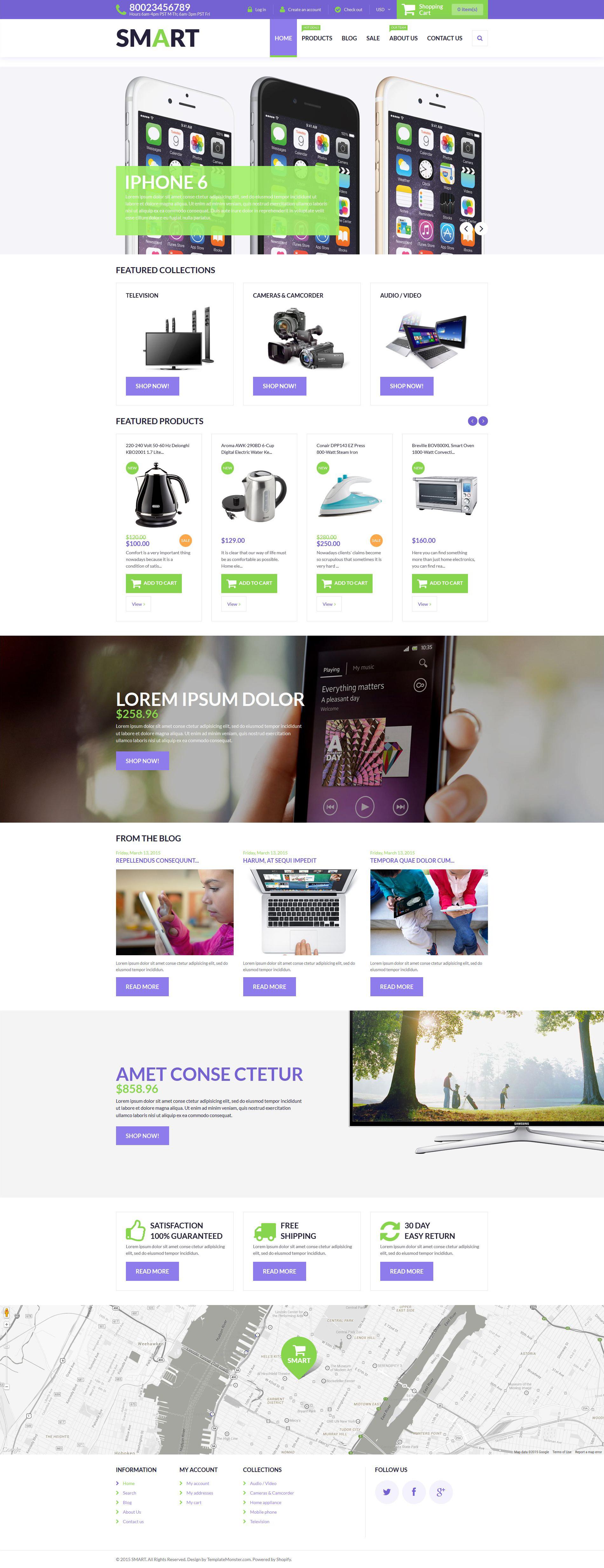 Reszponzív Smart Store Shopify sablon 53497 - képernyőkép