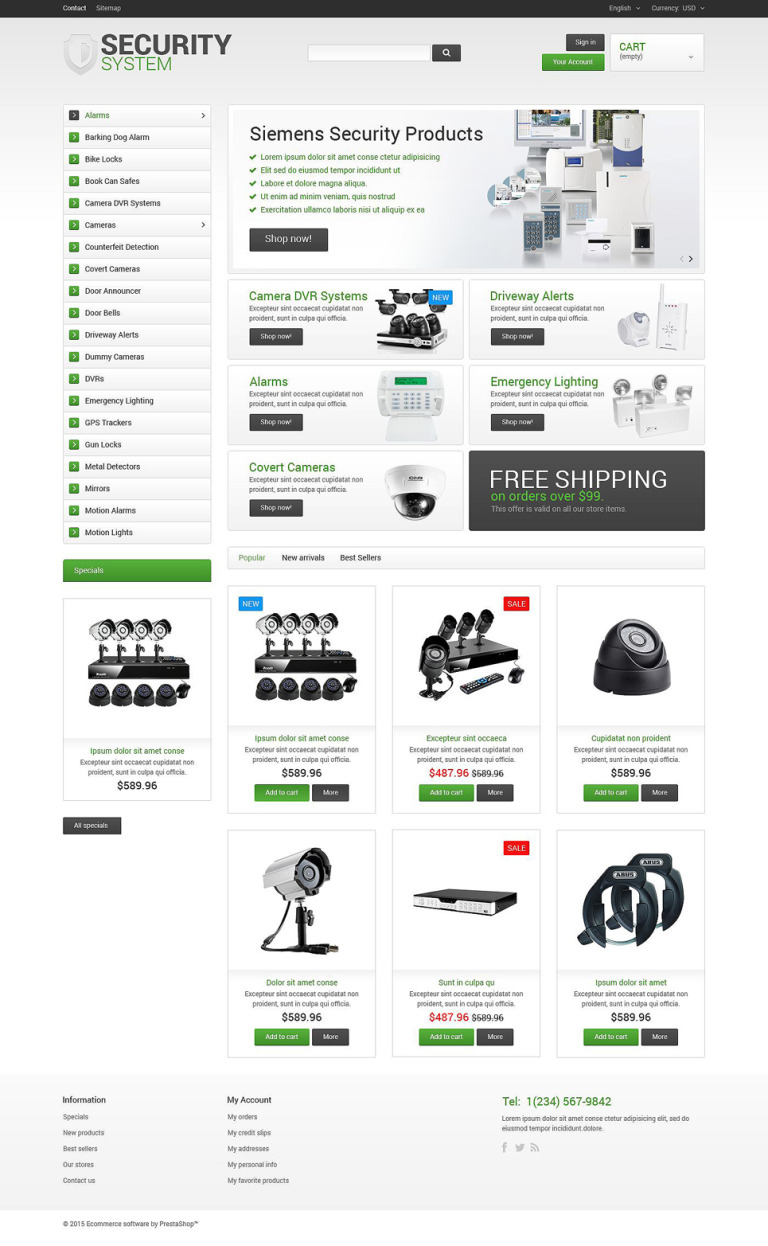 Security System PrestaShop Theme New Screenshots BIG